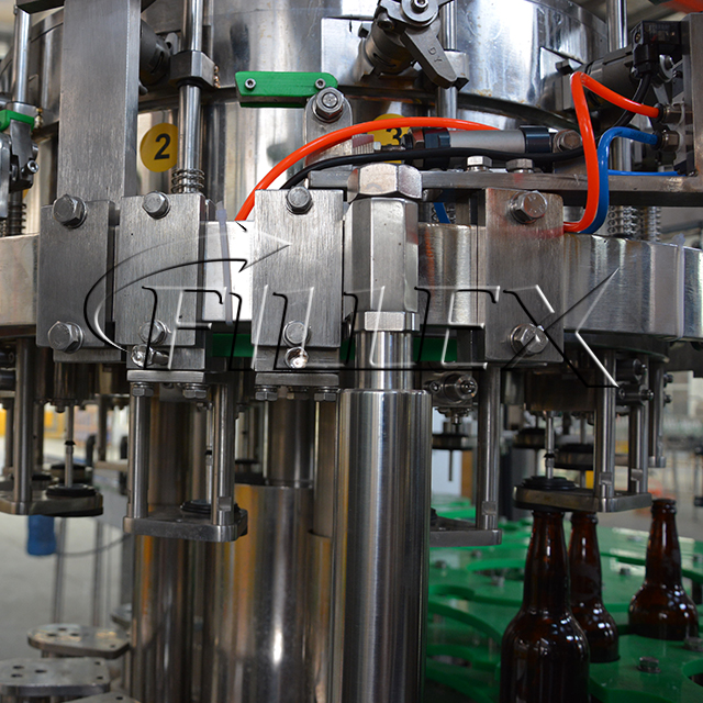 Glass Bottle Carbonated Beer Filling Production Line
