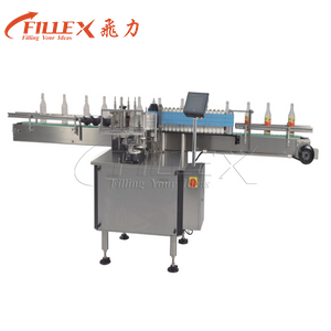 Automatic Two Side Flat Bottle Wet Glue Labeling Machine